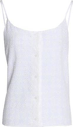 100% Guaranteed Cheap Online In China Cheap Online Equipment Woman Broderie Anglaise Silk Crepe De Chine Camisole White Size XS Equipment BxDvRtYA2V