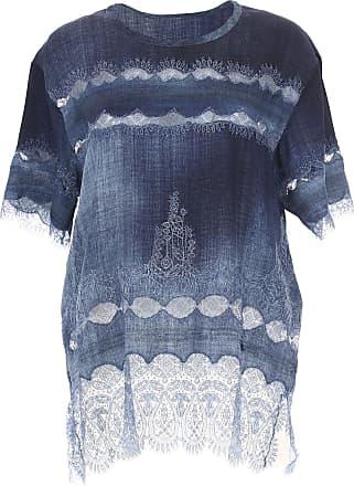 Shirt for Women On Sale, Denim Light Blue, Viscose, 2017, USA 12 -- IT 46 Ermanno Scervino
