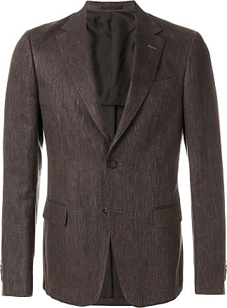 Ermenegildo Zegna classic blazer - Brown Cheap Prices Reliable Order Cheap Online Clearance Fast Delivery F6tLPYAd7
