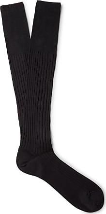 Socks for Men On Sale, Baghette Socks, Black, Cotton, 2017, Universal Size Ermenegildo Zegna