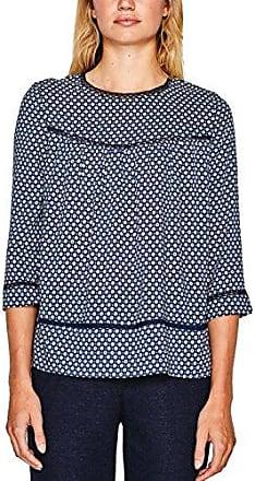 Esprit 097ee1f002, Blusa para Mujer, Multicolor (Navy 400), 42
