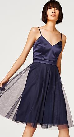 2-in-1-Kleid mit Tüllrock und Satin-Oberteil für Damen Navy Esprit