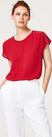 Blusentop mit Struktur und Spitze für Damen Dark Red Esprit