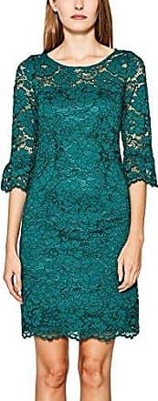 Esprit 097eo1e004, Vestido para Mujer, Verde (Dark Teal Green 375), 34