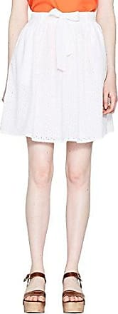 Esprit 048eo1d002, Falda para Mujer, Blanco (Off White 110), 40 (Talla del Fabricante: 38)