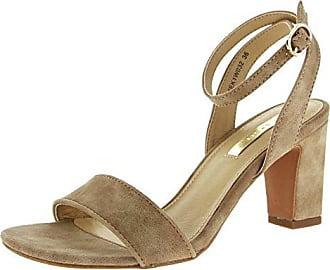 Sandalen High-heeled Pantoffeln Slip Mode (Beige/Schwarz/Braun) stilvoll (Farbe : Beige, größe : 37)
