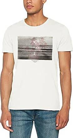 057ee2k025, T-Shirt Homme, Blanc (White), X-LargeEsprit