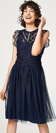 Kleid mit Spitzen-Oberteil und Tüll-Rock für Damen Navy Esprit