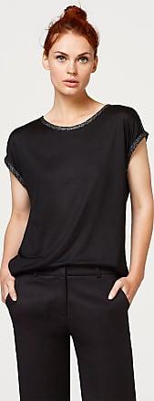 Shirt mit glitzernden Zierblenden für Damen Black Esprit