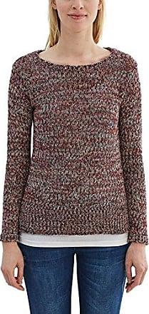 116EE1I013, Pull Femme, Multicolore (Dark Old Pink 5), 38 (Taille fabricant: Medium)Esprit