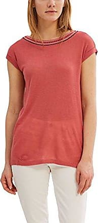 Esprit 077ei1k022-Relaxed Mit Knoten, Camiseta Deporte para Mujer, Rojo (Red 2 631), 42 (Talla del Fabricante: X-Large)