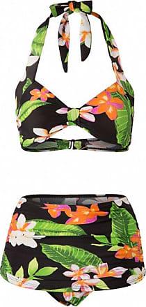 50s Classic Floral Bikini in Black Esther Williams