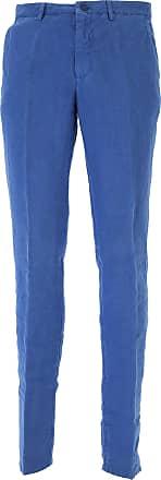 Pants for Men On Sale, Bluette, linen, 2017, 30 Etro