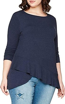 EVANS Broderie Frill, Blusa para Mujer, Negro (Black), 44 (Talla del Fabricante: 16)