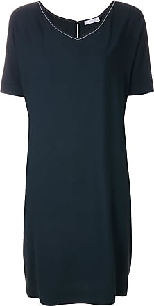 Dress for Women, Evening Cocktail Party On Sale, Anthracite, merino wool, 2017, 14 Fabiana Filippi