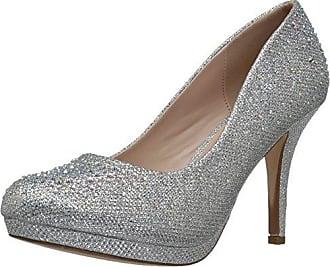 Pleaser Covet 03, Damen Pumps mit Fußgelenkriemchen, Beige - Beige (Nude Glitter Mesh Fabric) - Gr. 39 EU (6 UK)