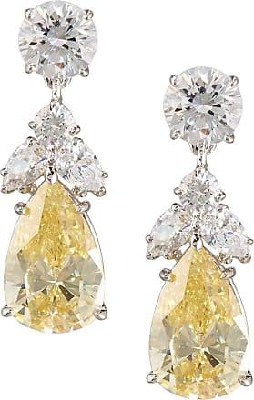 Fantasia Pear Canary Crystal Drop Earrings Qknw1Ba