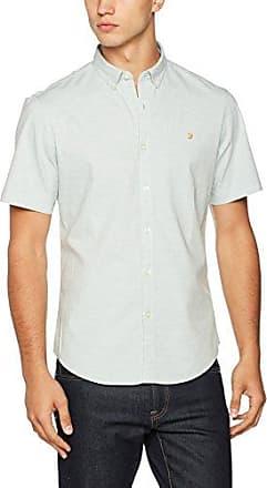 Eddleston L/S - Polo Homme, Blanc (White), SmallFarah