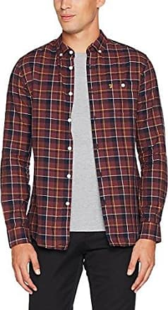 Coleville, Camisa Casual para Hombre, Rojo Red 626, Large Farah