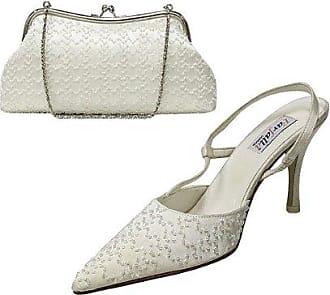 Satin Beaded Shoes and Matching Bags Set Size 5/38 - Black Farfalla 0G9PWY9eBh