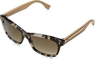 Fendi Damen Sonnenbrille FF 0087/S DX CU1, Schwarz (Hvn Blk Ruth/Dk Grey Sf), 53