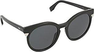 Fendi Damen Sonnenbrille Ff 0124/S Bn, Schwarz (Shiny Black), 52