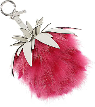 Key Chain for Women, Key Ring On Sale, Pink, Leather, 2017, Universal Size Fendi