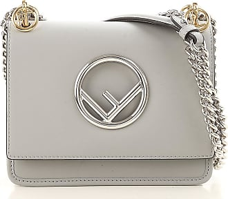 Shoulder Bag for Women On Sale, Grey Ice, Leather, 2017, one size Fendi