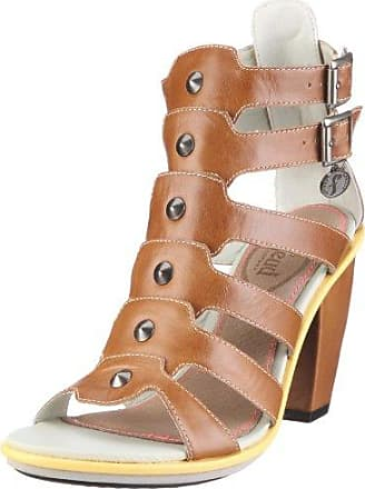 Dallas London Women Shoe FLW20187SP11, Damen, Sandalen/Fashion-Sandalen, Braun (tan multi F32), EU 40 (UK 7) Feud London