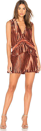 Stardust Ruffle Mini Dress in Metallic Copper. - size S (also in M,XS) Finders Keepers