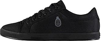 Firetrap Captain Kidd Herren Turnschuhe Sneaker Freizeit Schuhe Geprägtes Logo Schwarz 8 (42) ImWpxY5JX