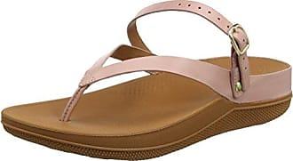 FitFlop Fino Strobe Toe-Thong, Sandales Bout Ouvert Femme, (Dusky Pink 535), 39 EU