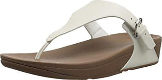 FitFlop Skinny Leather Toe-Thong, Sandales Bout Ouvert Femme, Or (Pale Gold 308), 40 EU