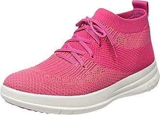 FitFlop Damen Uberknit Slip-on High Top Sneaker, Mehrfarbig (Fuchsia/Dusky Pink 561), 37.5 EU