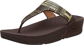 Fitflop »lumy Leather Slide With Studs« Sandale, Braun, Uk-Größen, Braun