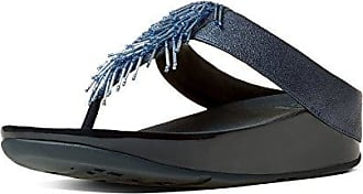 Surfa Sequin, T-Bar Sandals Femme - Bleu - Blue (Supernavy), 37FitFlop