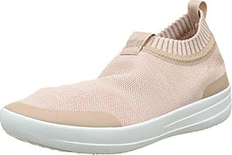 FitFlop Damen Uberknit Slip-on Ghillie Sneakers Hohe Sneaker, Multicolour (Coral/Fuchsia), 39 EU