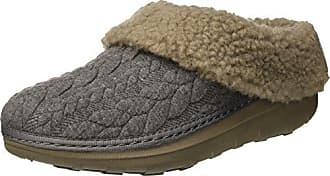 FitFlop Damen Loaff Quilted Slippers Pantoffeln, Grau (Charcoal), 38 EU