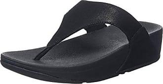 Les Femmes Fitflop Lulu Croix Sandales Slide Miroir Peeptoe - Noir - 39 Eu SpPSZtj9