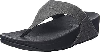 Fitflop Honeybee Jewelled Toe-Thong Sandals, Sandalias con Plataforma para Mujer, Azul (Midnight Navy), 39 EU FitFlop