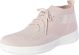 FitFlop Damen Uberknit Slip-on High Top Sneaker, Mehrfarbig (Neon Blush/White 460), 38 EU