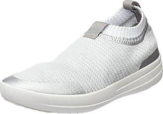 Uberknit Slip-on High Top Sneaker, Zapatillas Altas Para Mujer, Multicolour (Neon Blush/White), 41 EU FitFlop