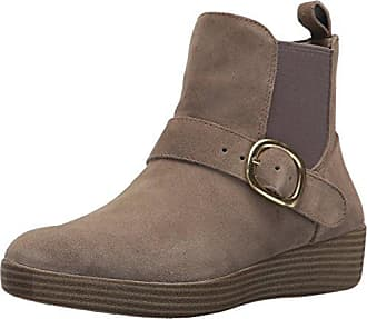 FitFlop Damen Loaff Lace-up Ankle Boot Shearling Chukka, Beige (Desert Stone), 42 EU