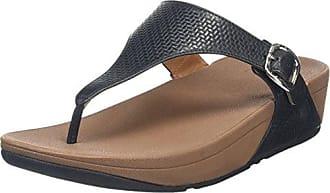 Femmes Maigres Fitflop Orteil-string Sandales En Cuir Peep Toe - Brun - 38 Eu hRMAJzCxX