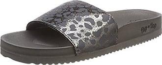 flip flop Damen Pooltile Offene Sandalen, Grau (Steel), 38 EU