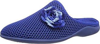 Florett Paula - Zapatillas de estar por casa de material sintético para mujer, color azul, talla 37