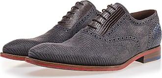 NEU Blauer Brogue Leder Sneaker mit Schlangenprint, Business Schuhe, Sneaker, Handgefertigt Floris Van Bommel