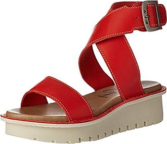 Yild880, Sandales Bout Ouvert Femme, Rouge (Scarlet 002), 38 EUFLY London