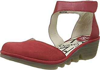 Ypul799fly, Sandales Bout Ouvert Femme, Rouge (Lipstick Red), 39 EUFLY London
