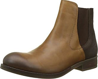 MAKE Botas Chelsea Mujer, Marrón (Dk. Brown 001), 37 EU FLY London